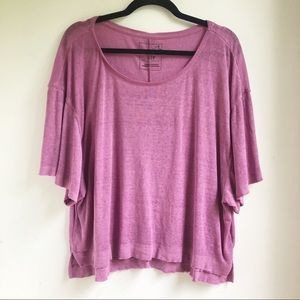 We the Free Purple Burnout Oversize Tee Small